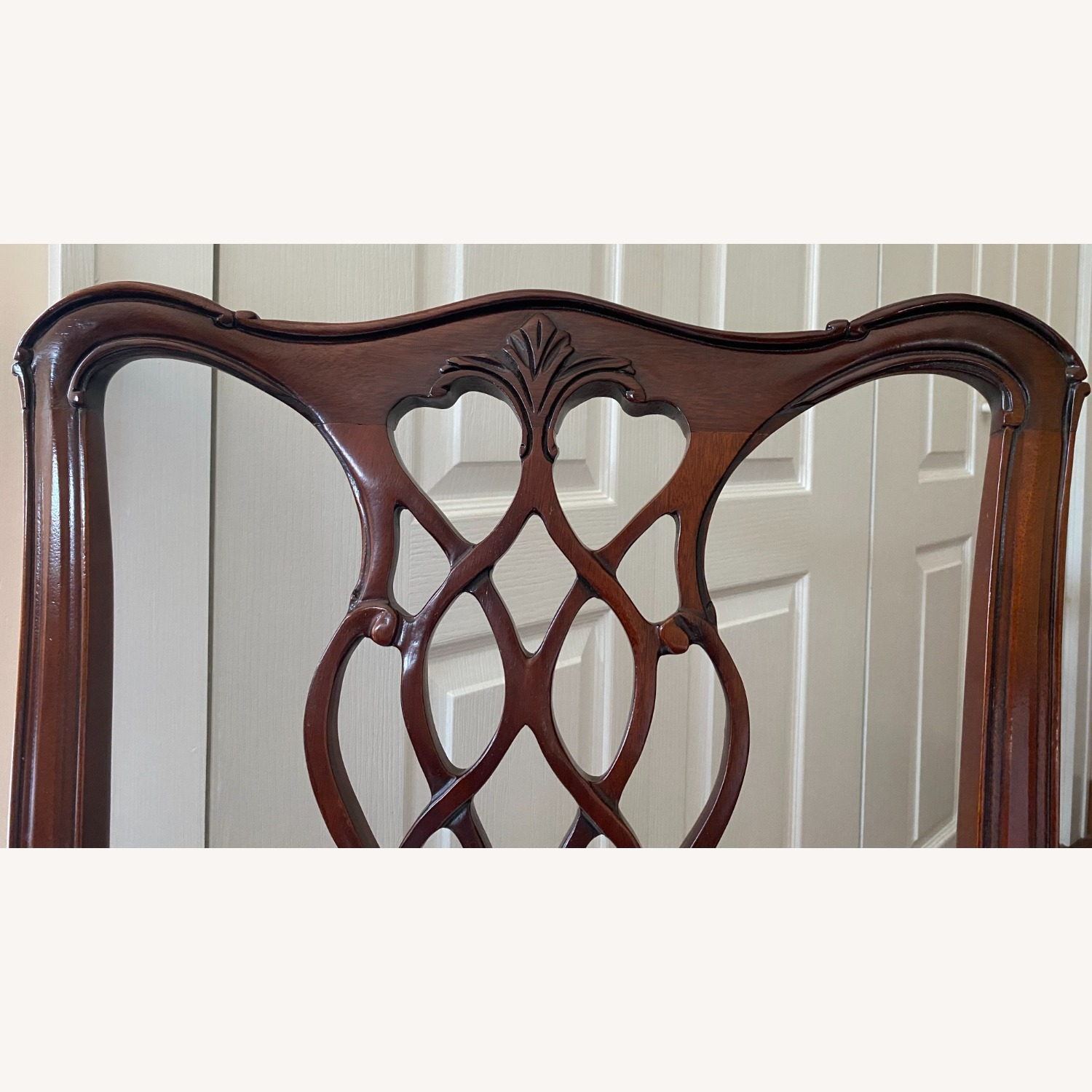 4 Councill Mahogany Chippendale Dining Chairs - image-8