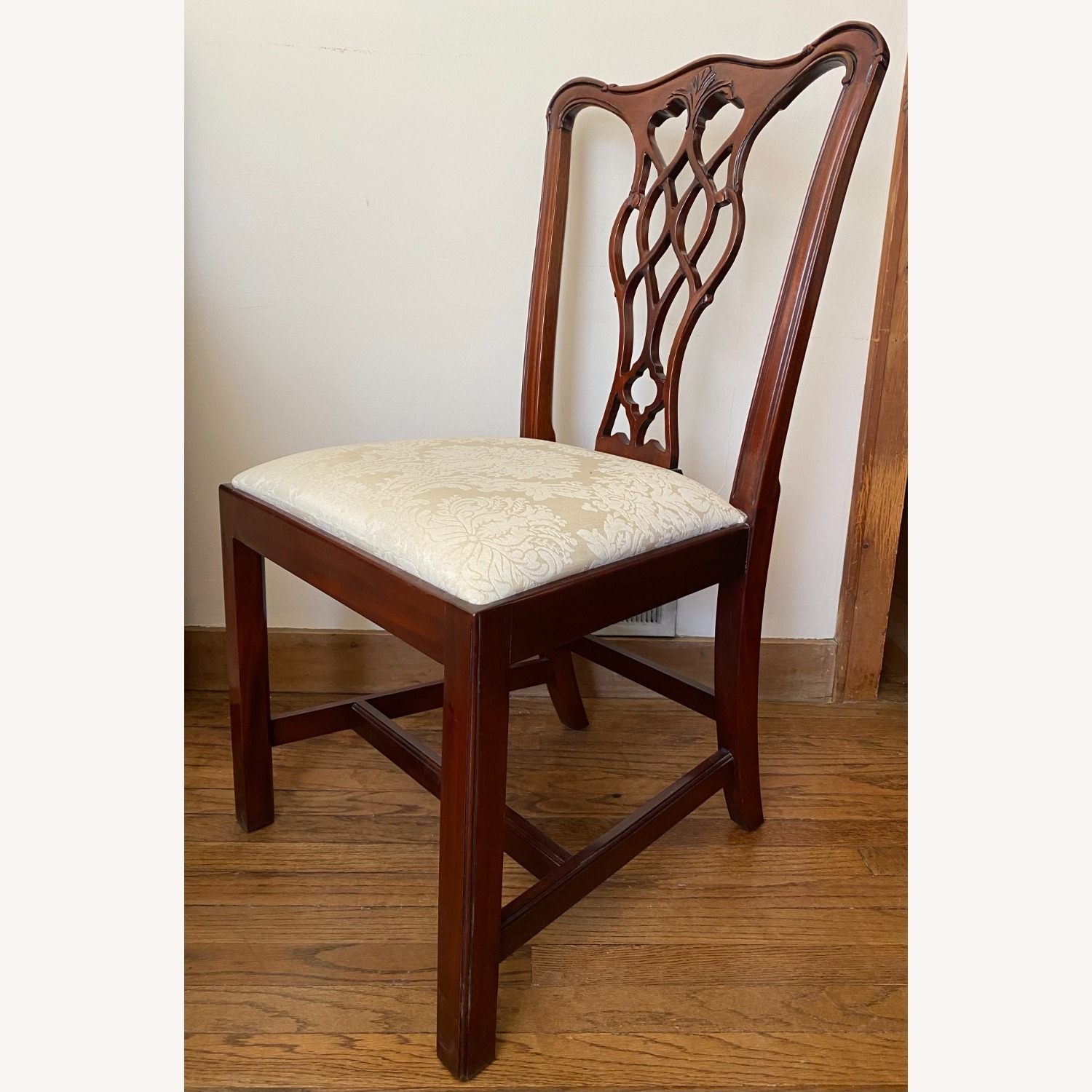 4 Councill Mahogany Chippendale Dining Chairs - image-2