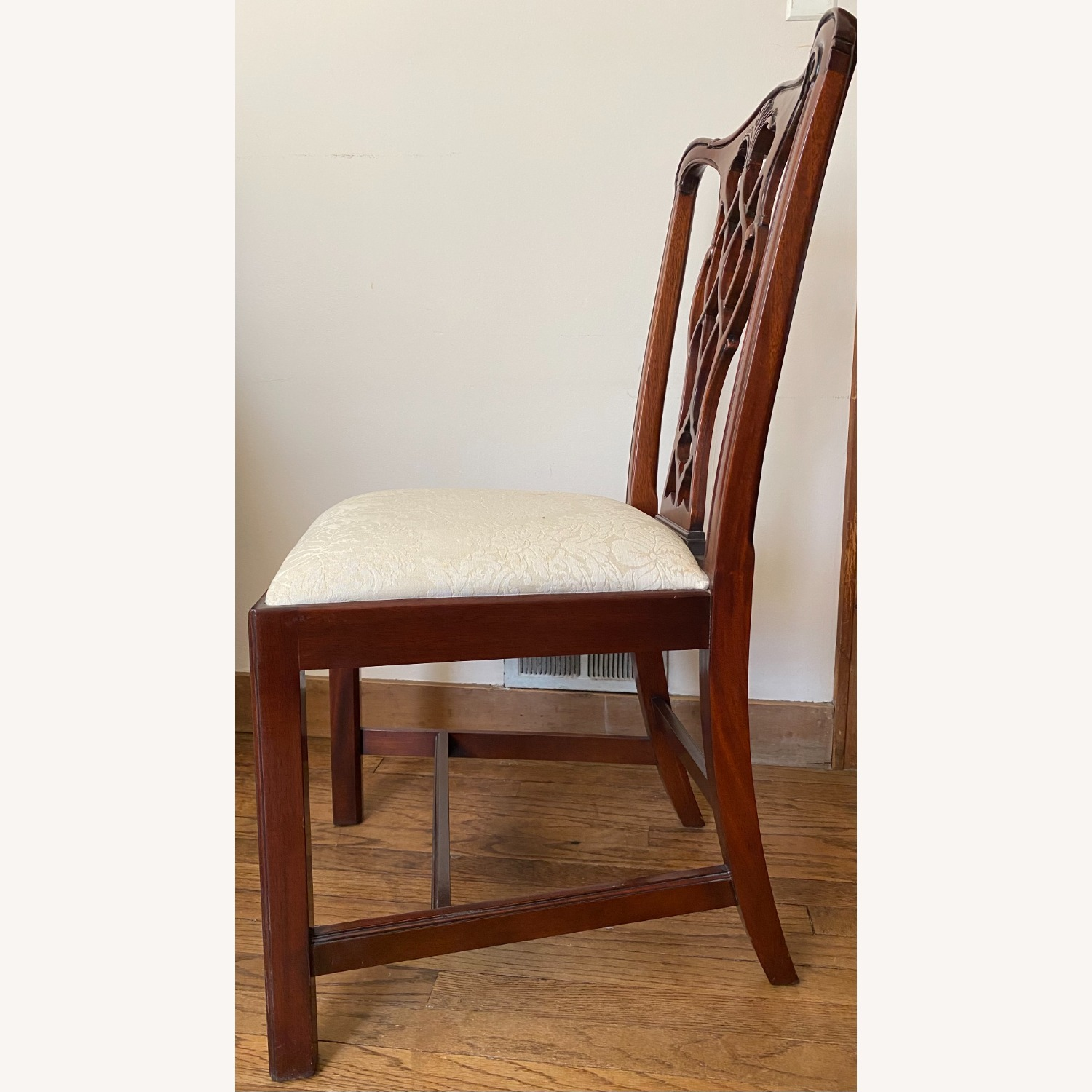 4 Councill Mahogany Chippendale Dining Chairs - image-4