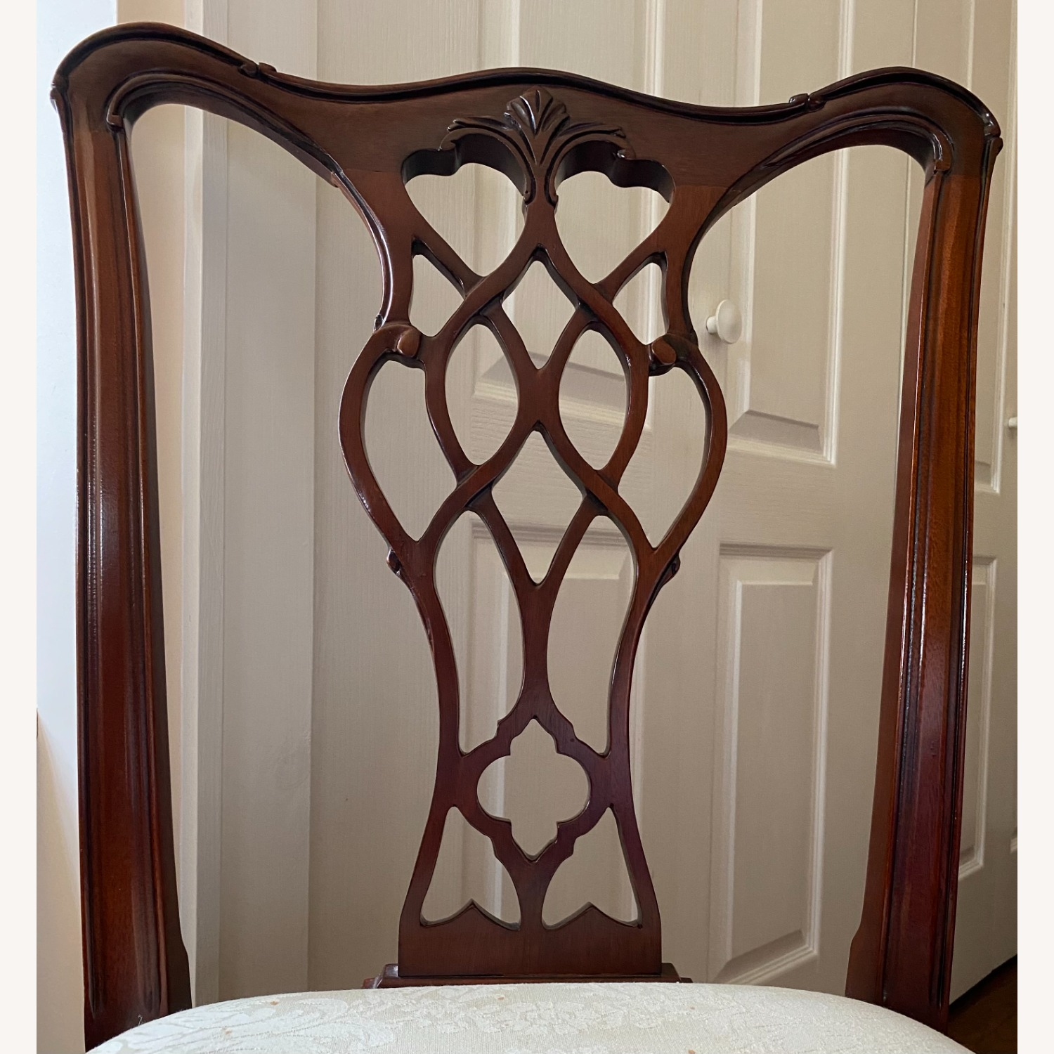 4 Councill Mahogany Chippendale Dining Chairs - image-7