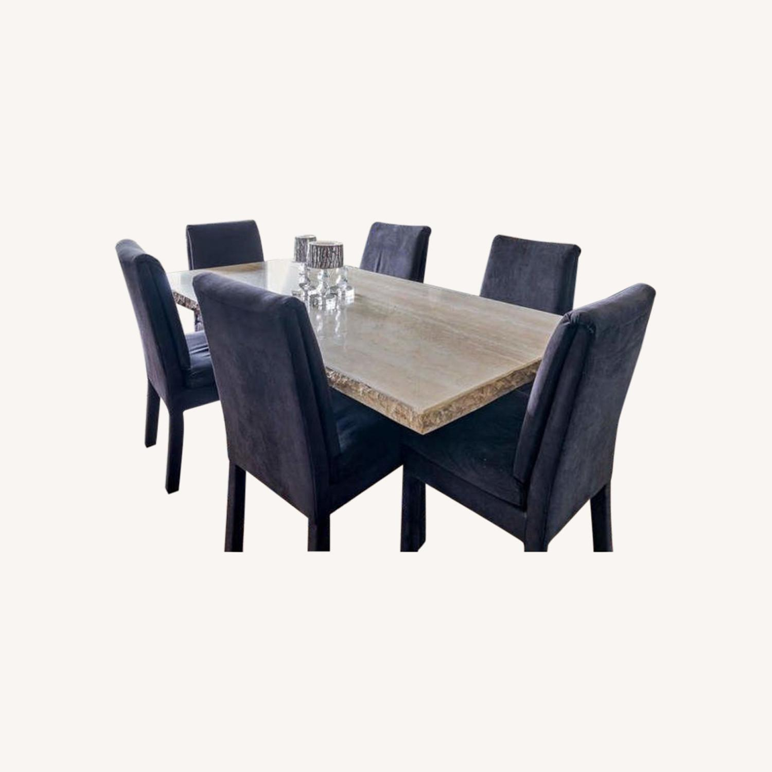 Marble 3 Piece Dining Room Set - image-0