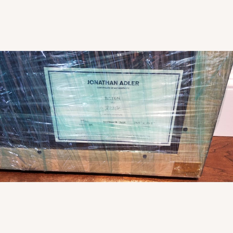 Jonathan Adler Bitten Beaded Linen Wall Art - image-2