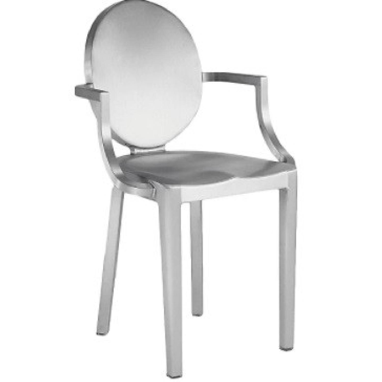 Emeco Kong Chairs set by P. Starck in Brushed Alu - image-11