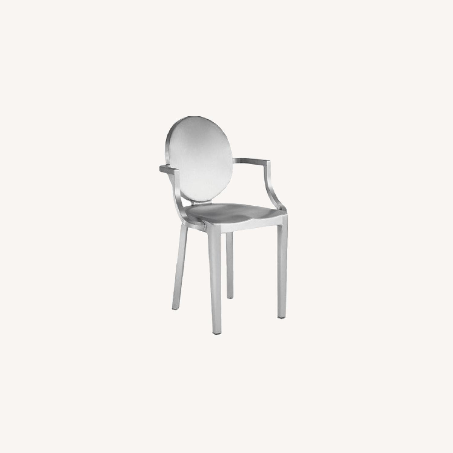 Emeco Kong Chairs set by P. Starck in Brushed Alu - image-0