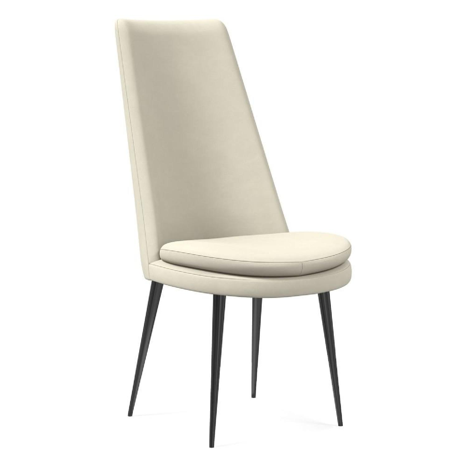 West Elm Finley High Back Velvet Dining Chairs - image-5