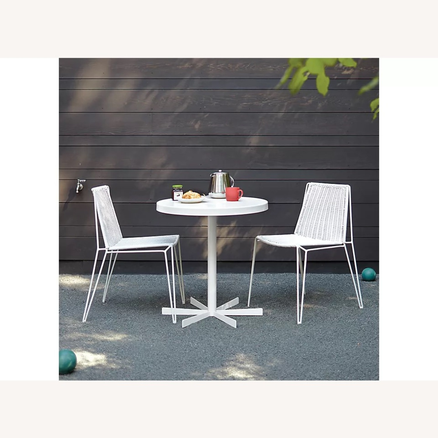 Room & Board Penelope Outdoor Cafe Table White - image-0