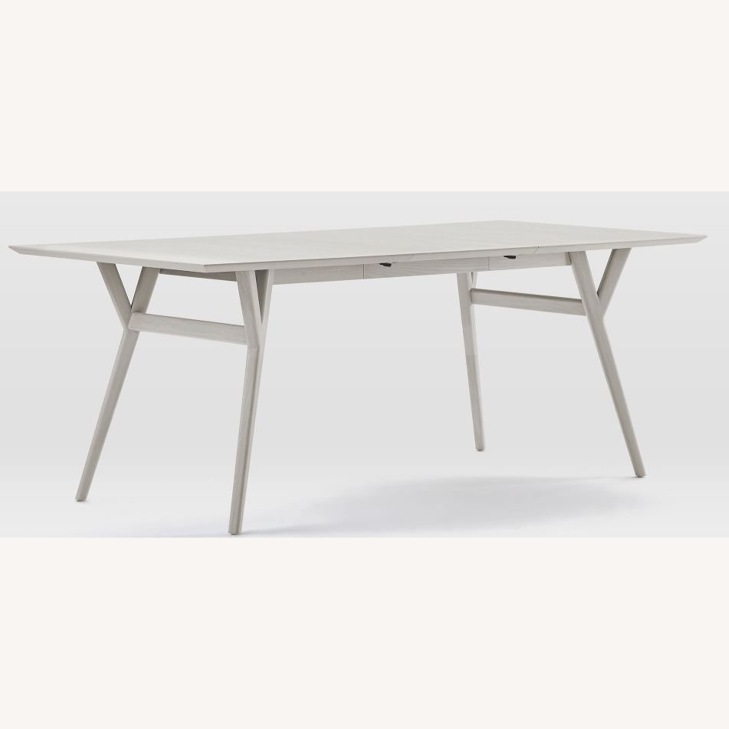 West Elm Grey Wood Dining Table and 6 chairs - image-0