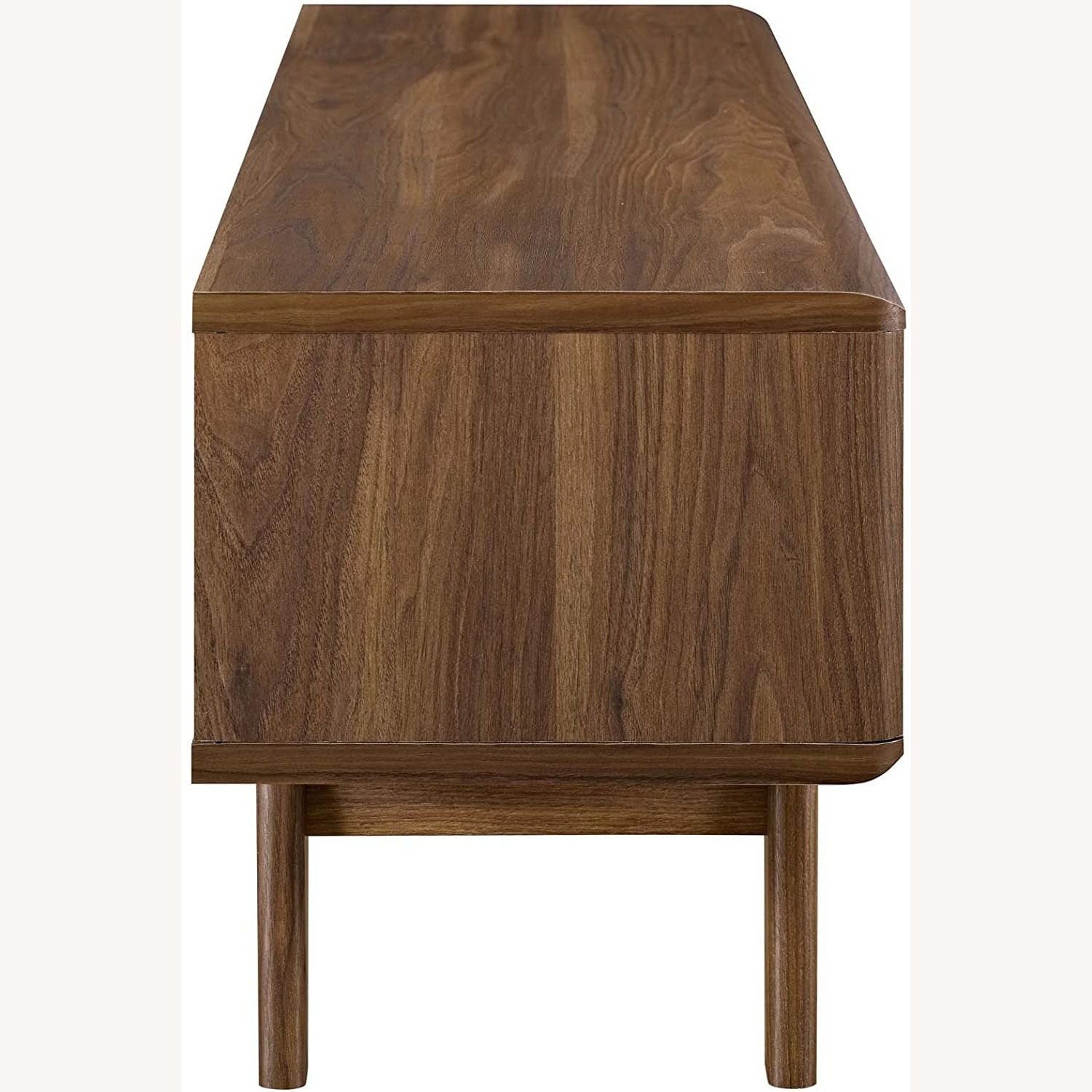 """Mid-Century Style TV Stand In 48"""" Walnut & White - image-2"""