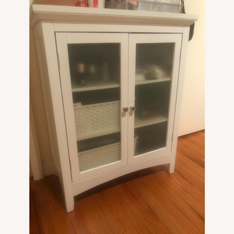 White 2-Door Cabinet - image-1