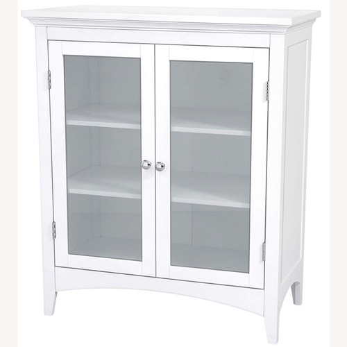 Used White 2-Door Cabinet for sale on AptDeco