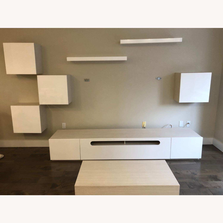 Lazzoni White Media Wall Units (Set of 4) - image-6