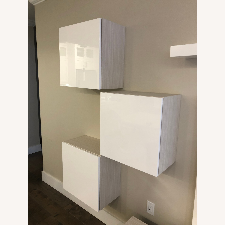Lazzoni White Media Wall Units (Set of 4) - image-4