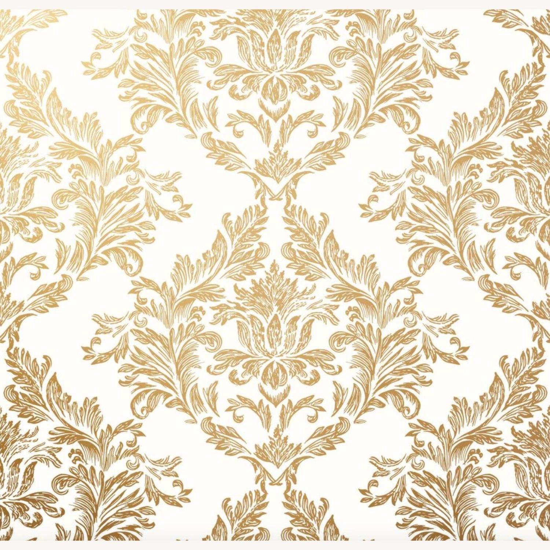 Hygge & West Damask Gold Wallpaper - image-0