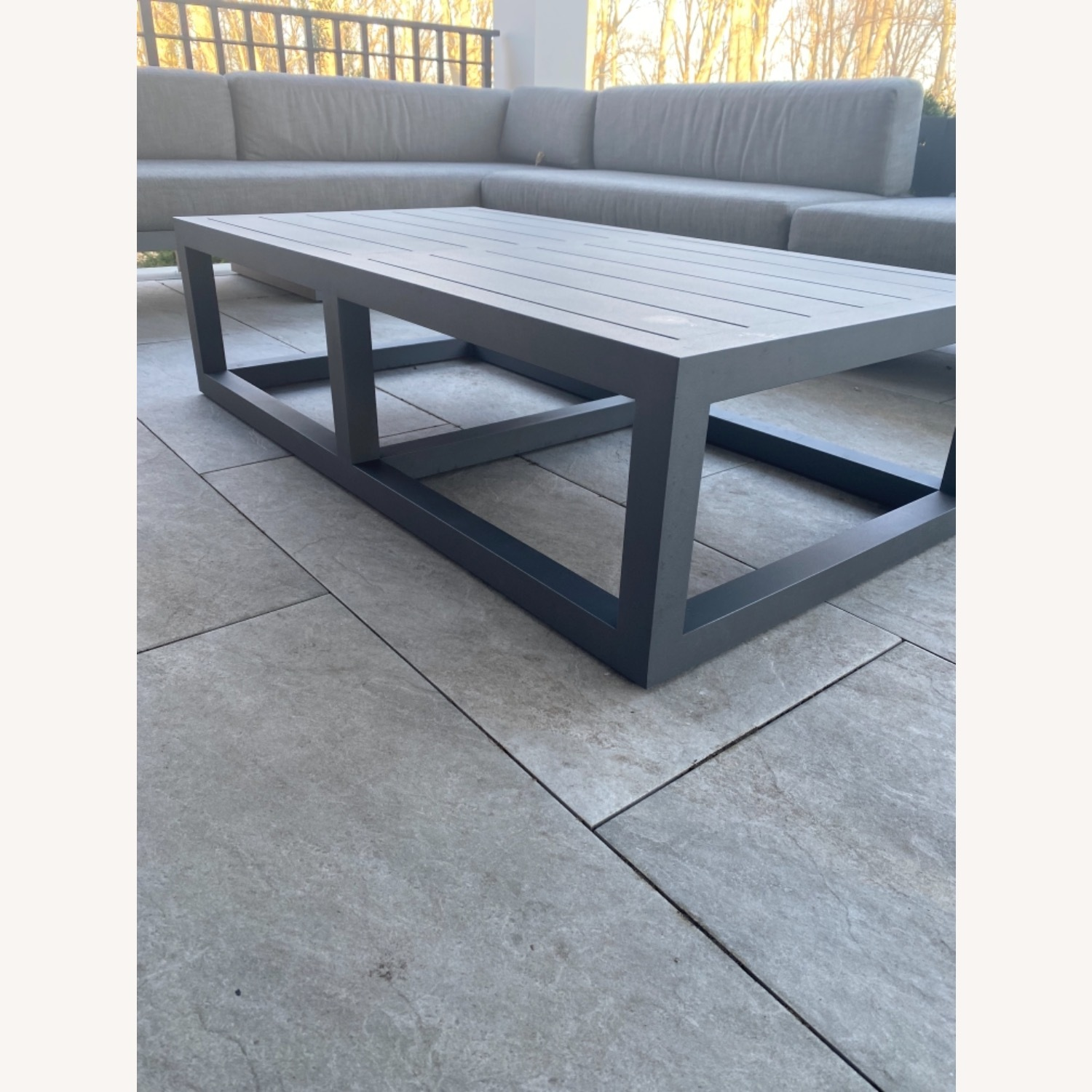 Restoration Hardware Outdoor Coffee Table - image-5