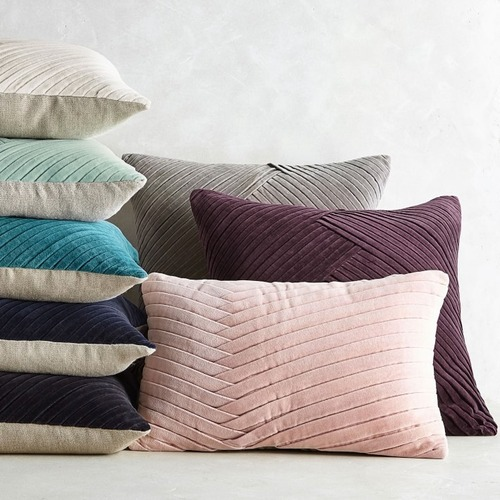 Used Williams Sonoma Velvet Throw Pillow Covers and Inserts for sale on AptDeco
