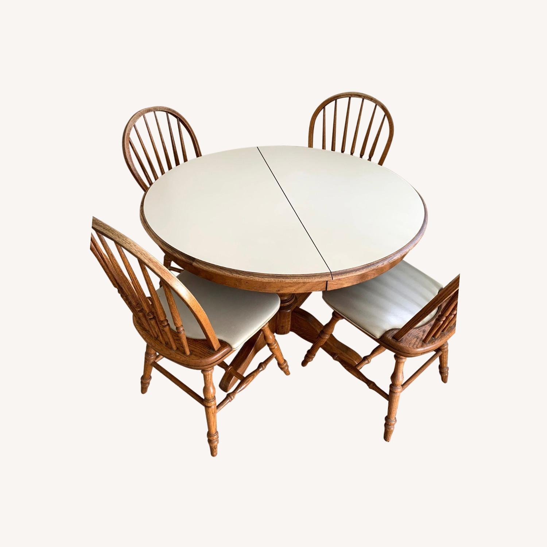 Vintage Oak Dining Set (5 piece) - image-0