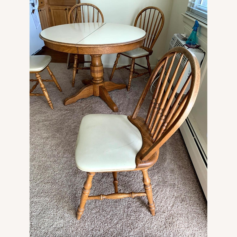 Vintage Oak Dining Set (5 piece) - image-3