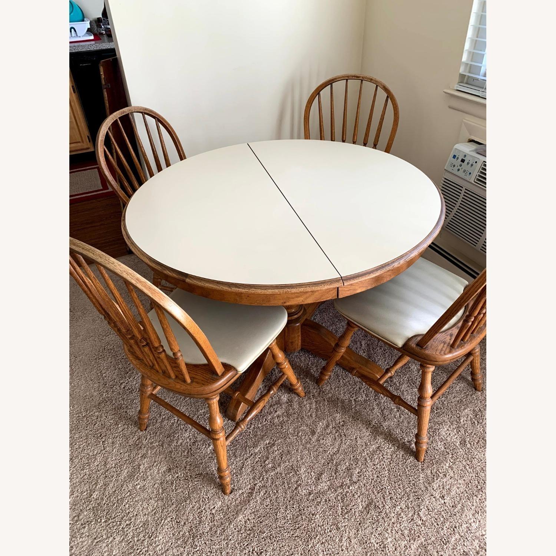 Vintage Oak Dining Set (5 piece) - image-1