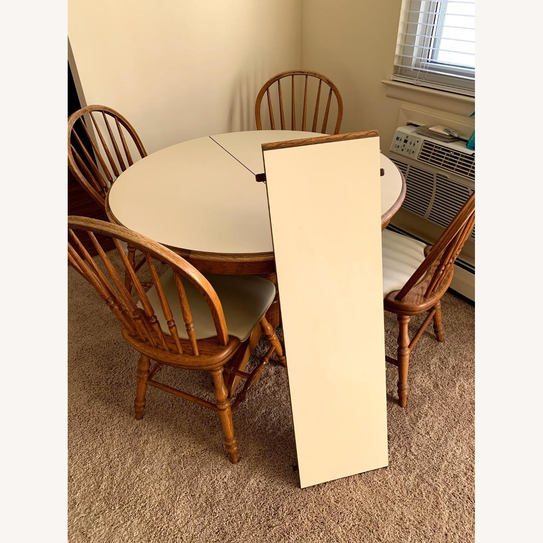Vintage Oak Dining Set (5 piece) - image-2