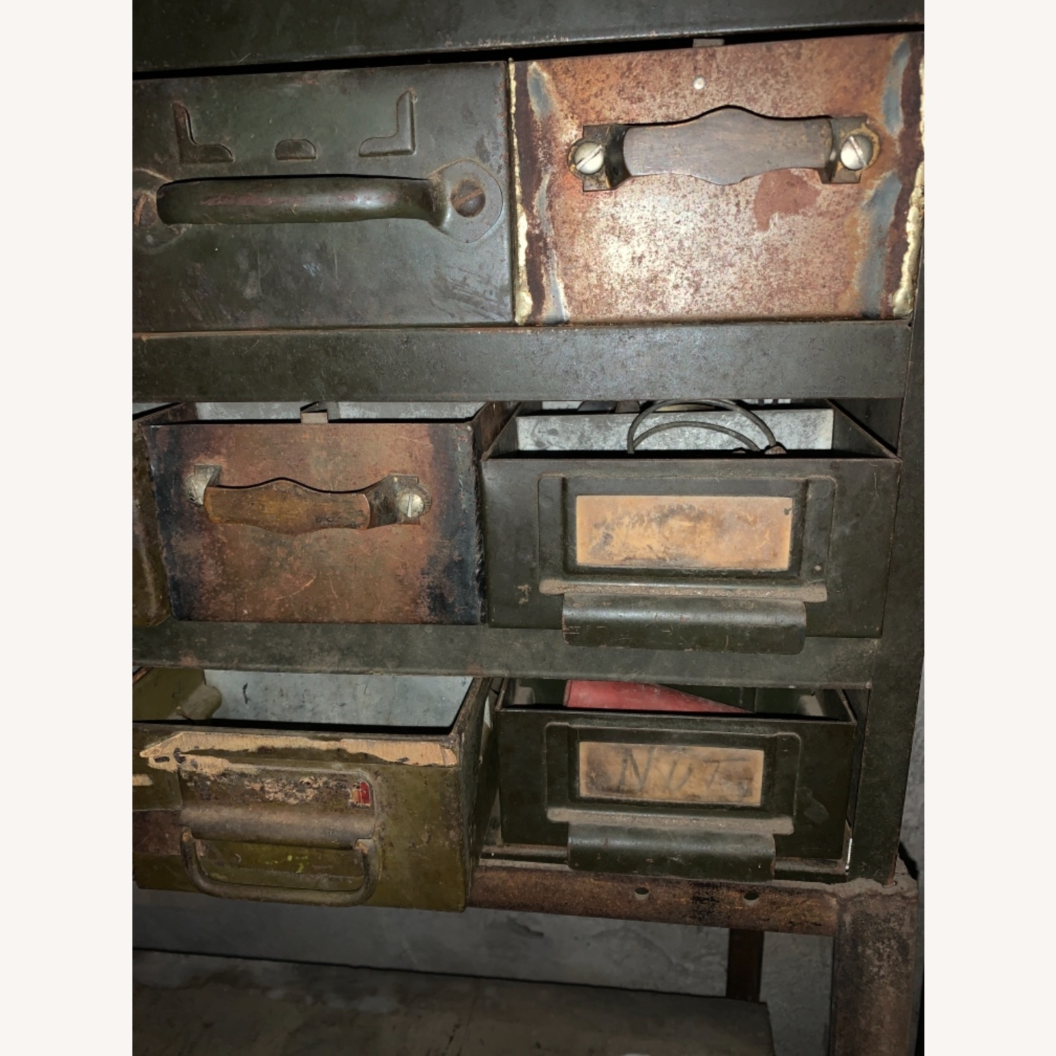Industrial Bins on a Stand with a Shelf - image-4