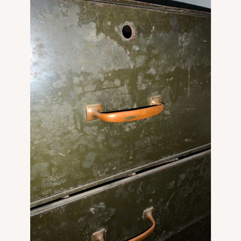 1920s/30s Five Draw Metal Storage Cabinet - image-10