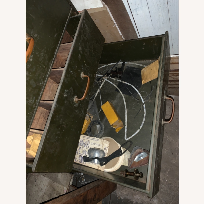 1920s/30s Five Draw Metal Storage Cabinet - image-7