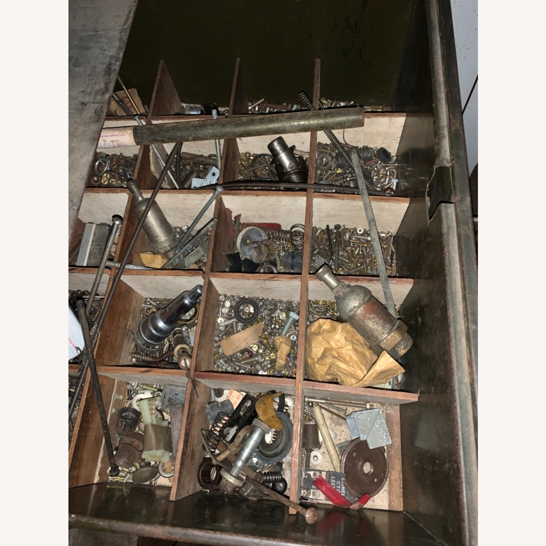 1920s/30s Five Draw Metal Storage Cabinet - image-5
