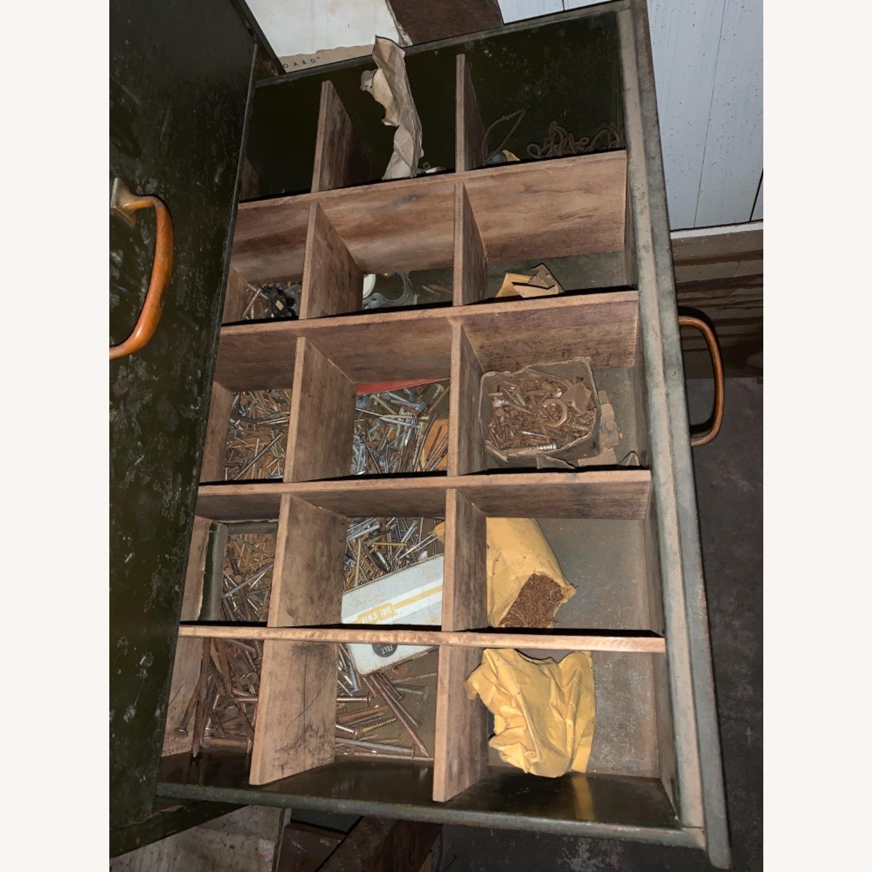 1920s/30s Five Draw Metal Storage Cabinet - image-6