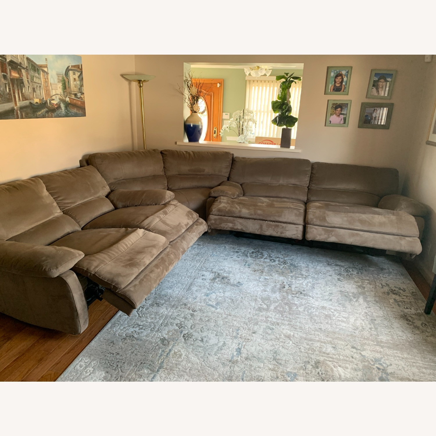 3 Piece Sectional Couch with Recliners - image-4