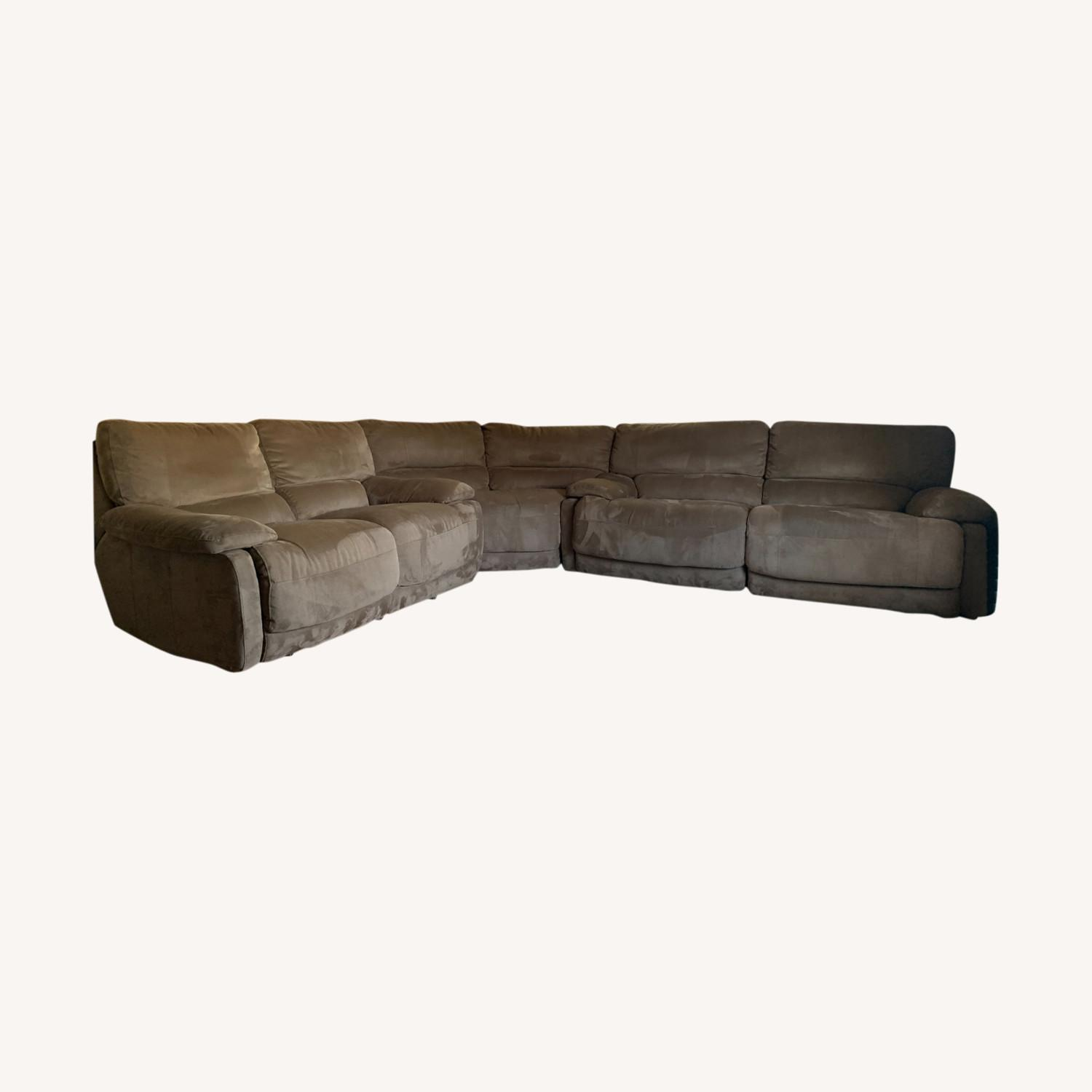 3 Piece Sectional Couch with Recliners - image-0