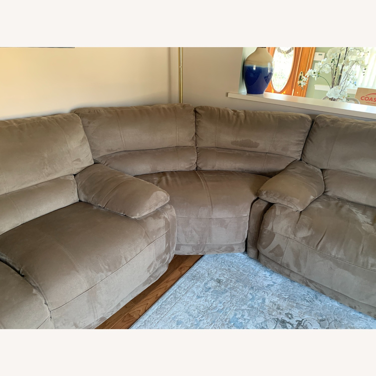 3 Piece Sectional Couch with Recliners - image-2