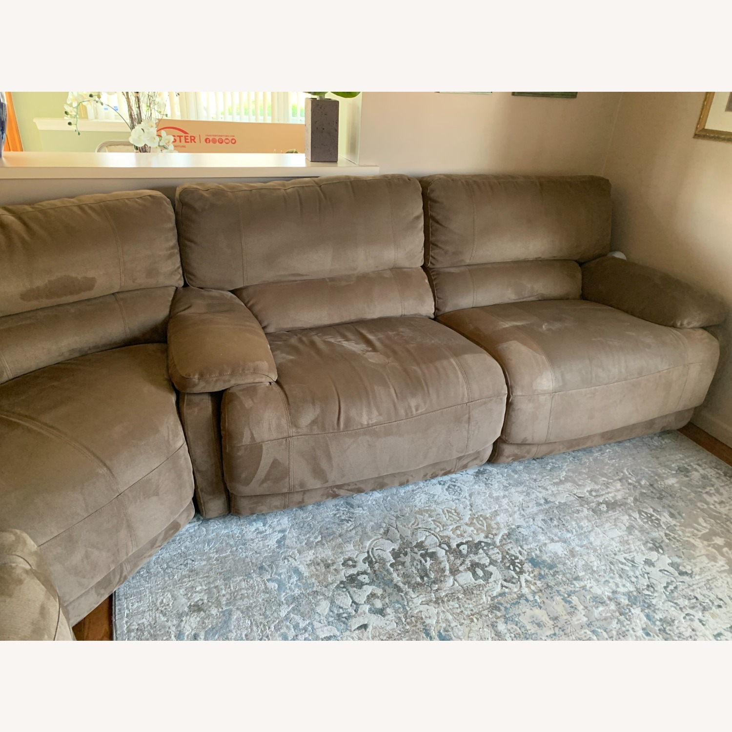 3 Piece Sectional Couch with Recliners - image-5
