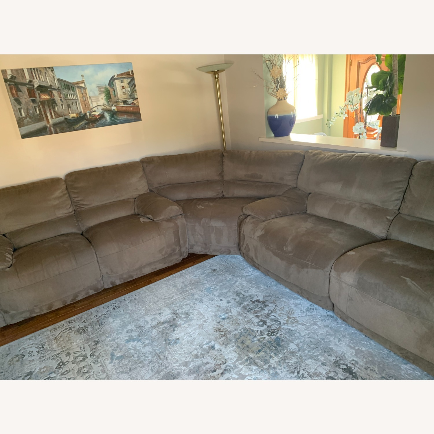 3 Piece Sectional Couch with Recliners - image-7