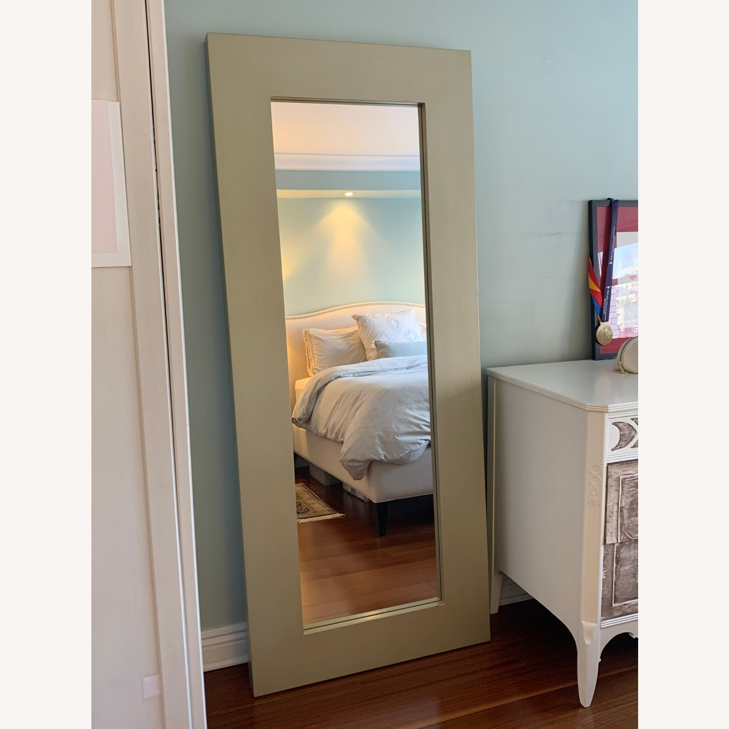 West Elm Chunky Wood Floor Mirror - image-5