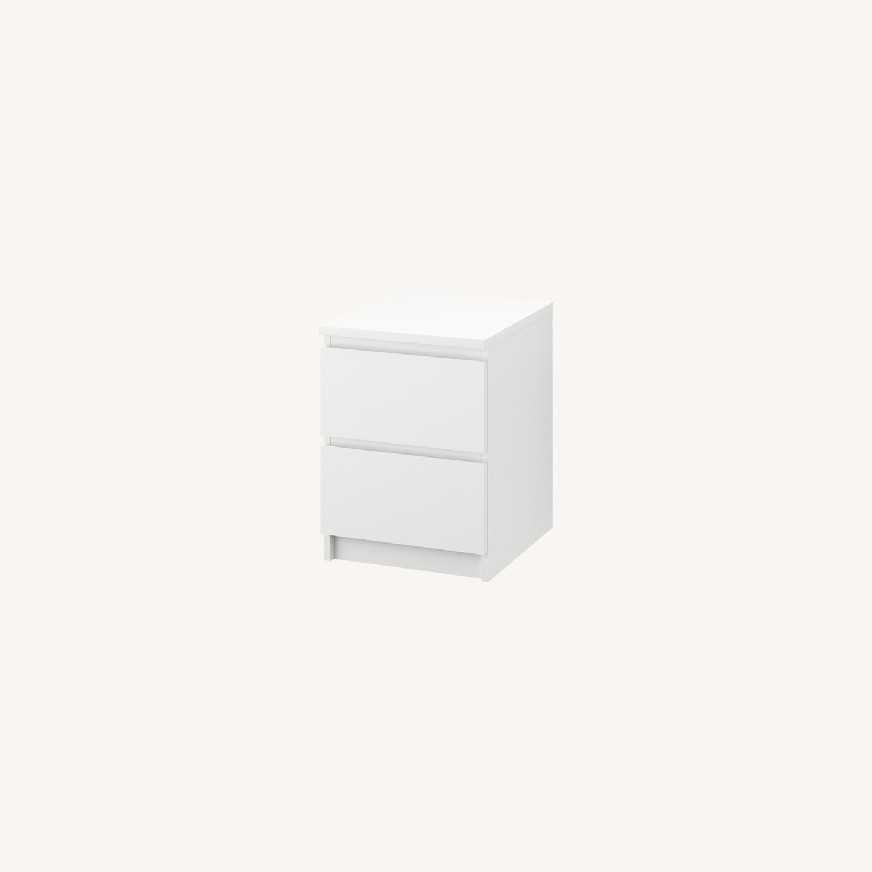 IKEA MALM White Nightstand - image-0