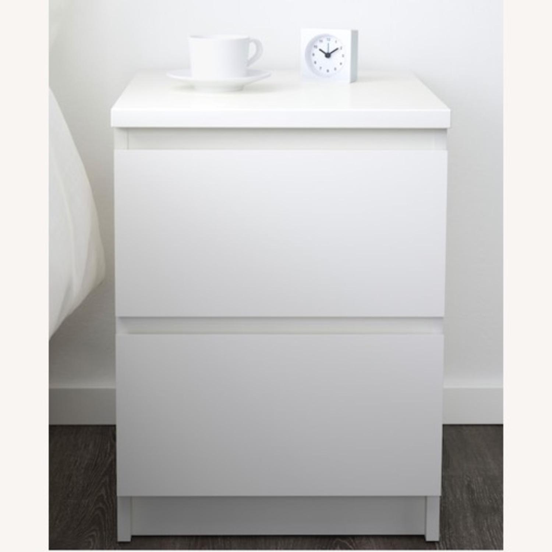 IKEA MALM White Nightstand - image-2