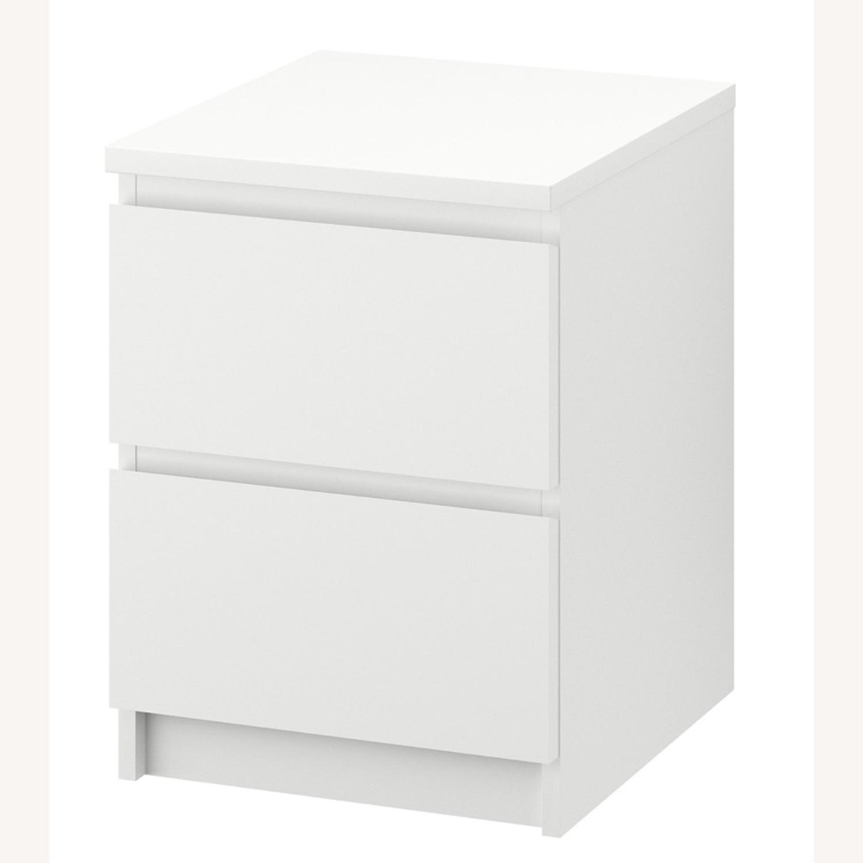 IKEA MALM White Nightstand - image-1