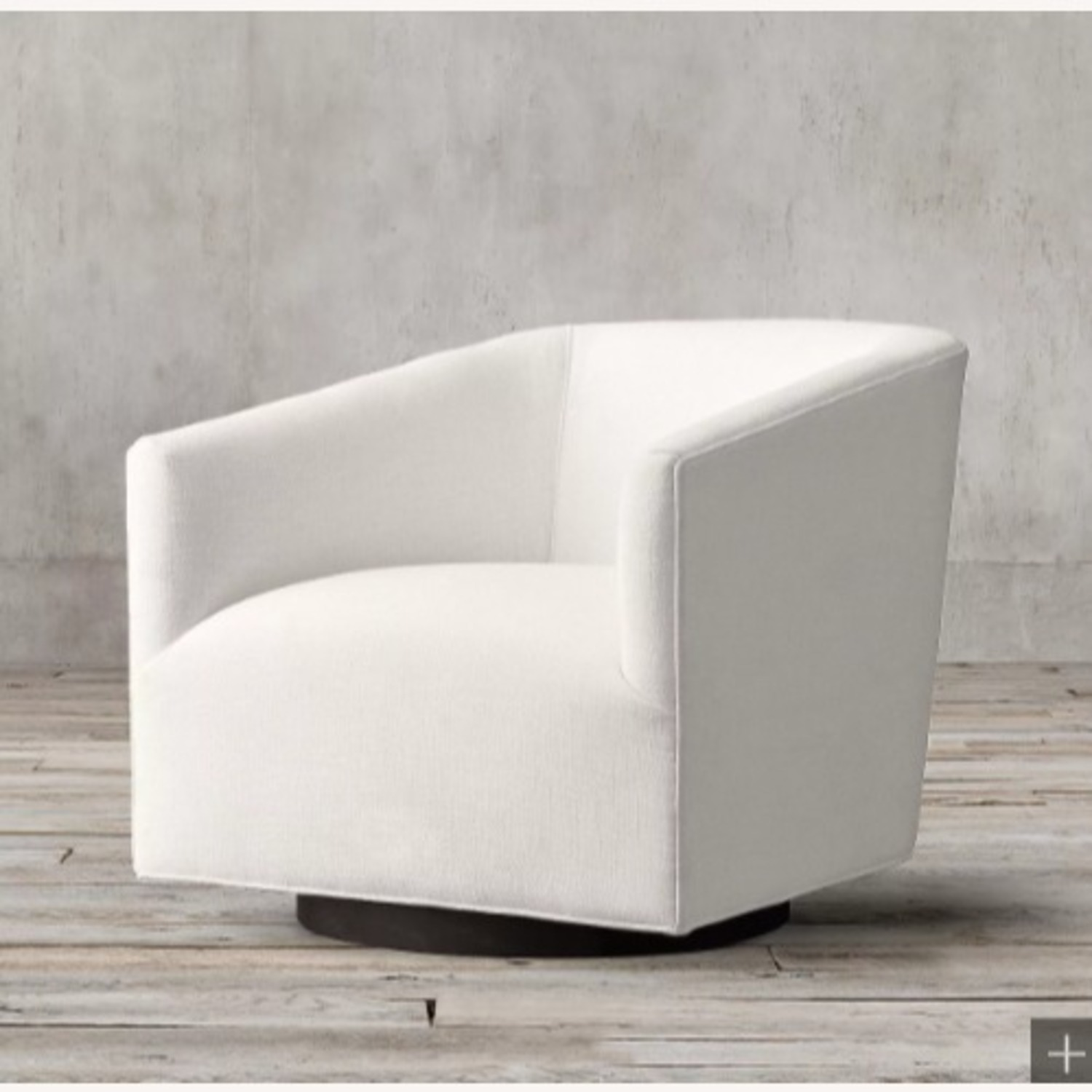 Restoration Hardware Italian Shelter Swivel Chair - image-0