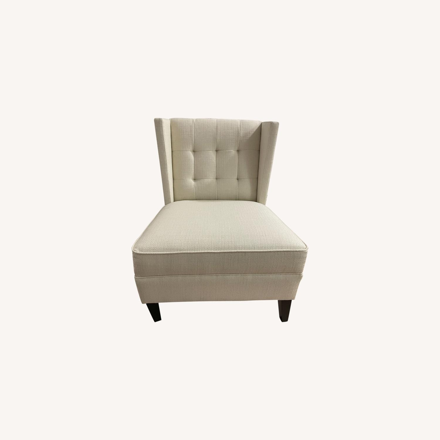 Ivory Wing Back Arm Chair - image-0