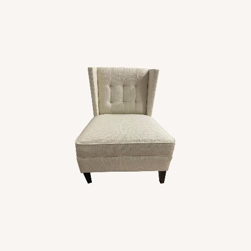 Used Ivory Wing Back Arm Chair for sale on AptDeco