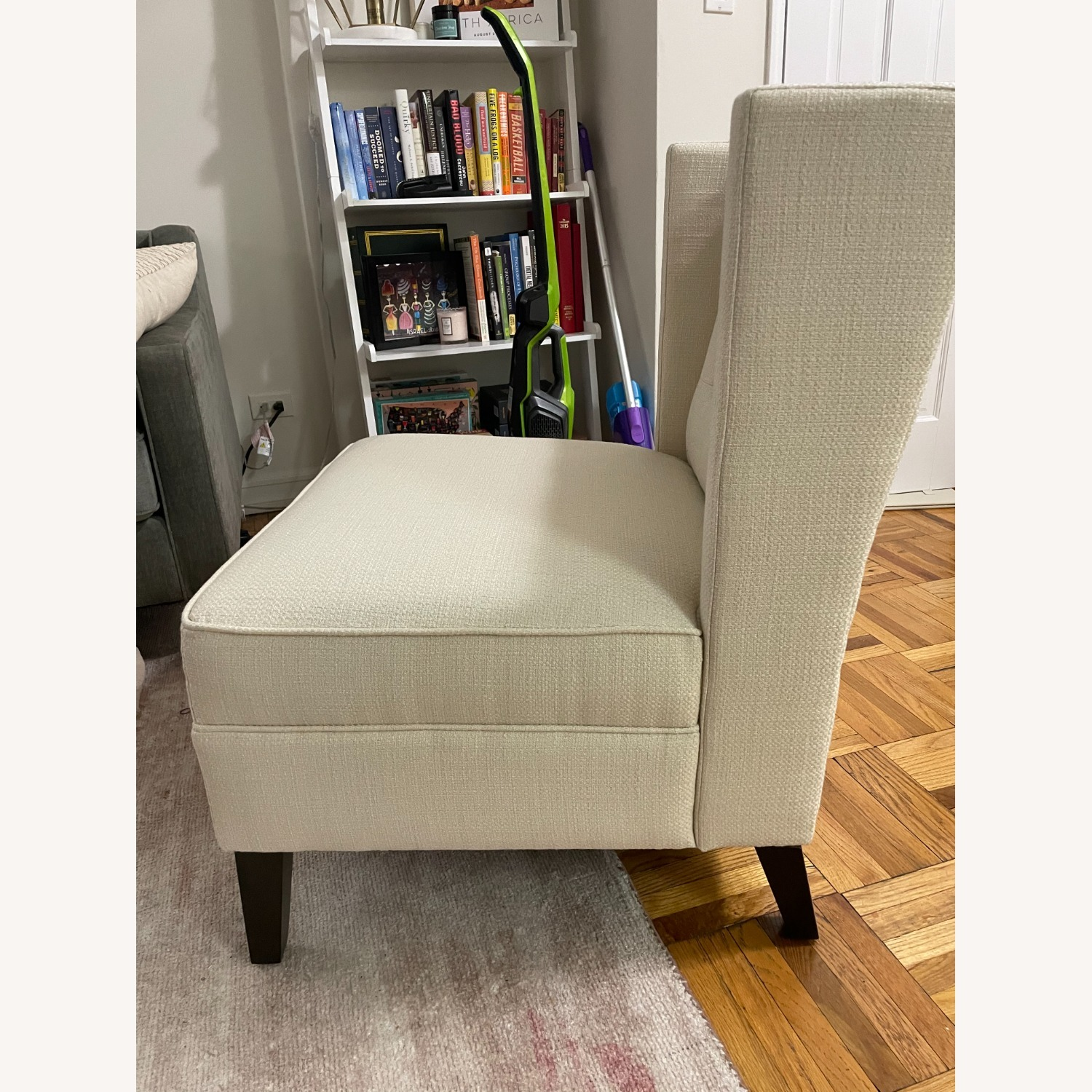 Ivory Wing Back Arm Chair - image-3