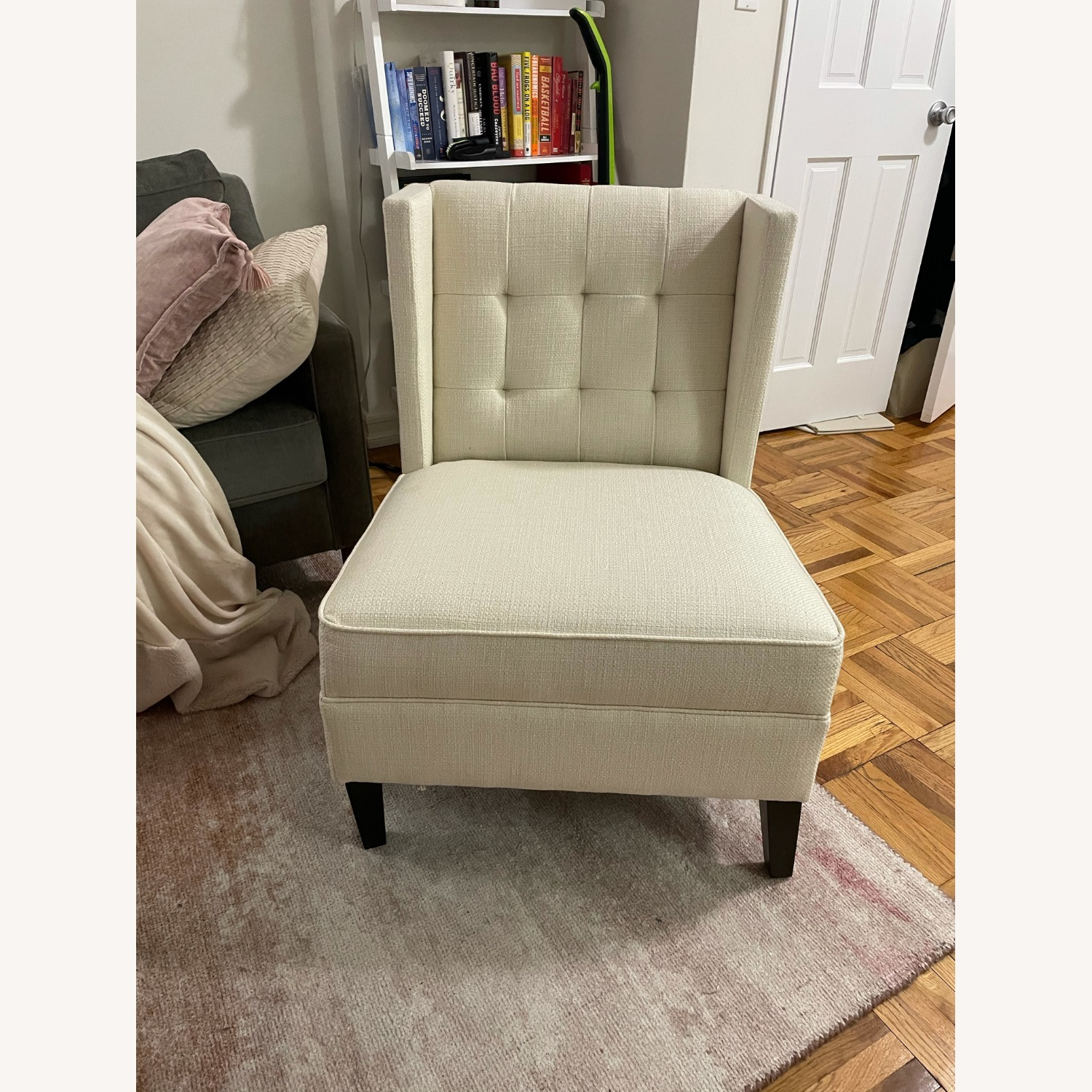 Ivory Wing Back Arm Chair - image-2