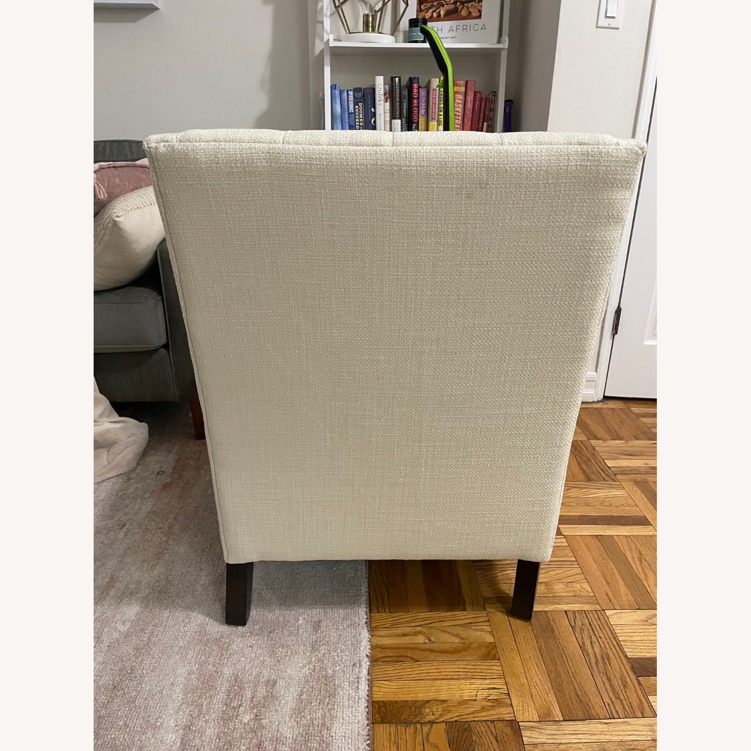 Ivory Wing Back Arm Chair - image-4
