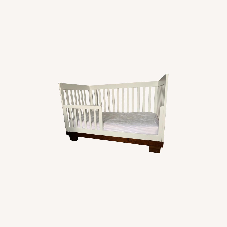 Babyletto Modo Crib white/dark wood - image-0