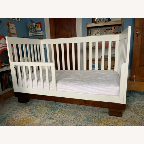 Used Babyletto Modo Crib white/dark wood for sale on AptDeco