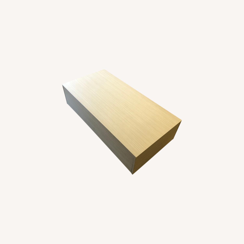 Lazzoni White Wood Coffee Table with Storage - image-0