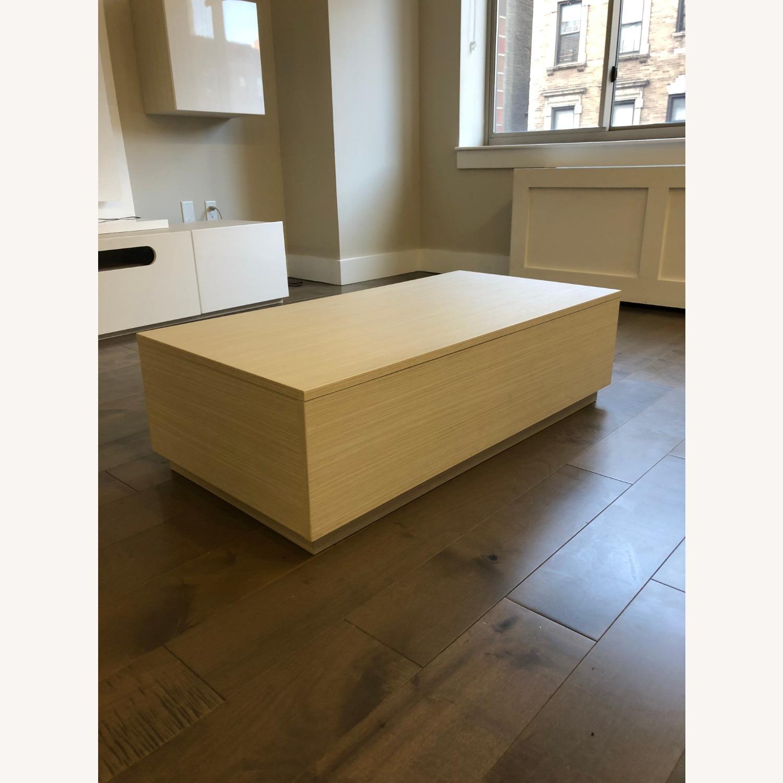 Lazzoni White Wood Coffee Table with Storage - image-2