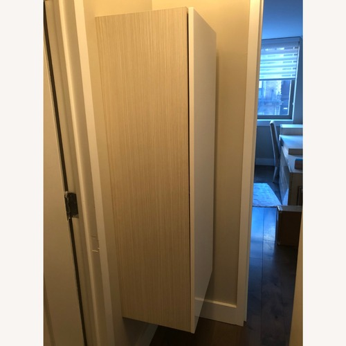 Used Lazzoni White Wood and Lacquer Wall Cabinet for sale on AptDeco