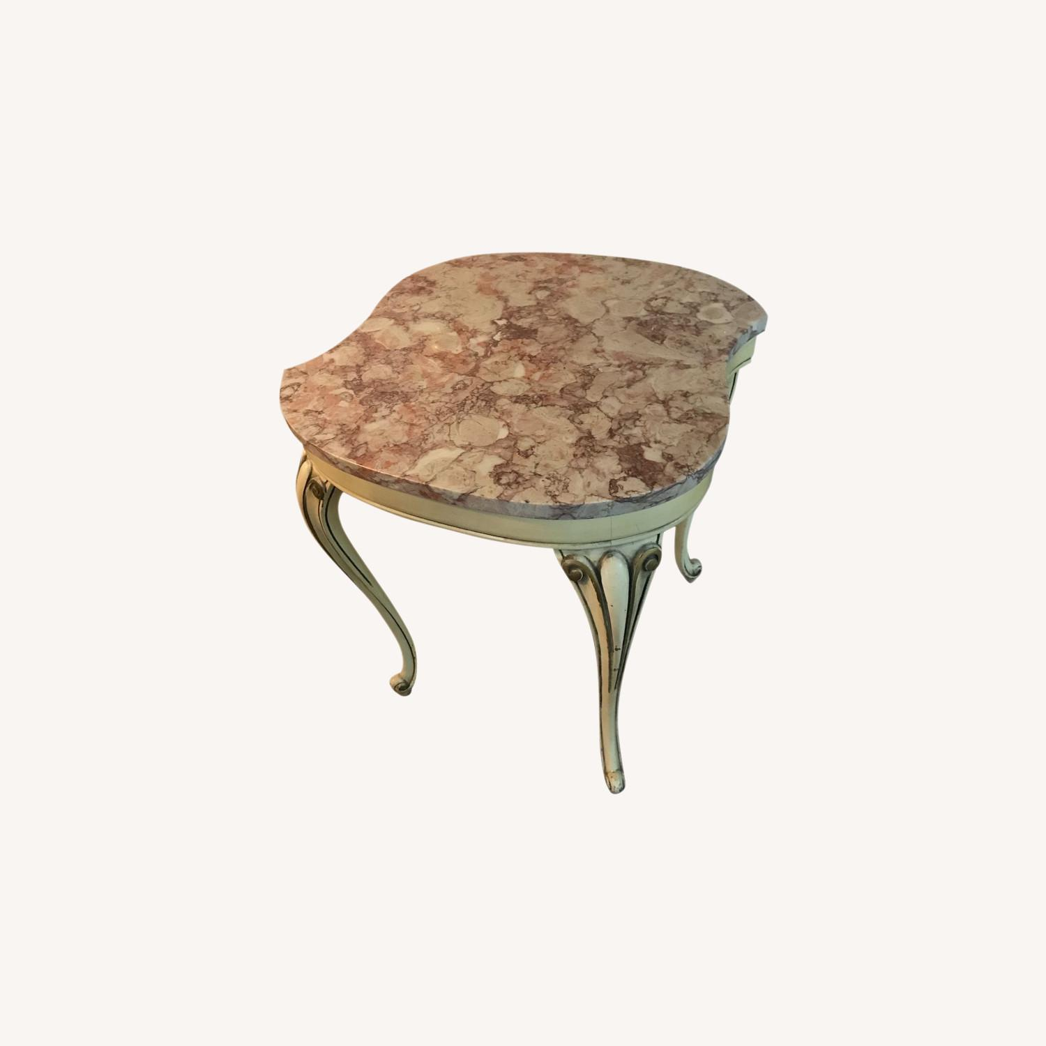 Antique Italian Marble Coffee Table Side Tables - image-0