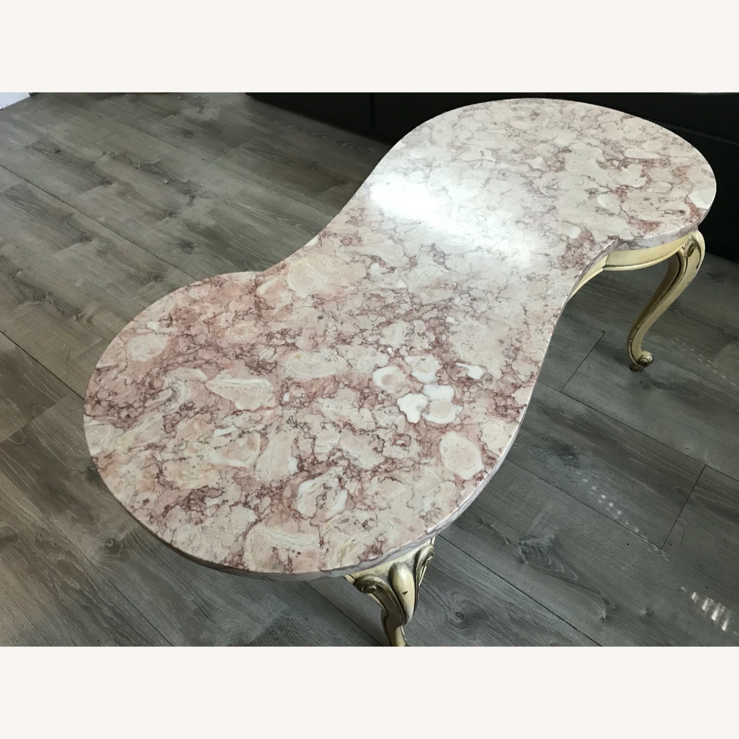 Antique Italian Marble Coffee Table Side Tables - image-1